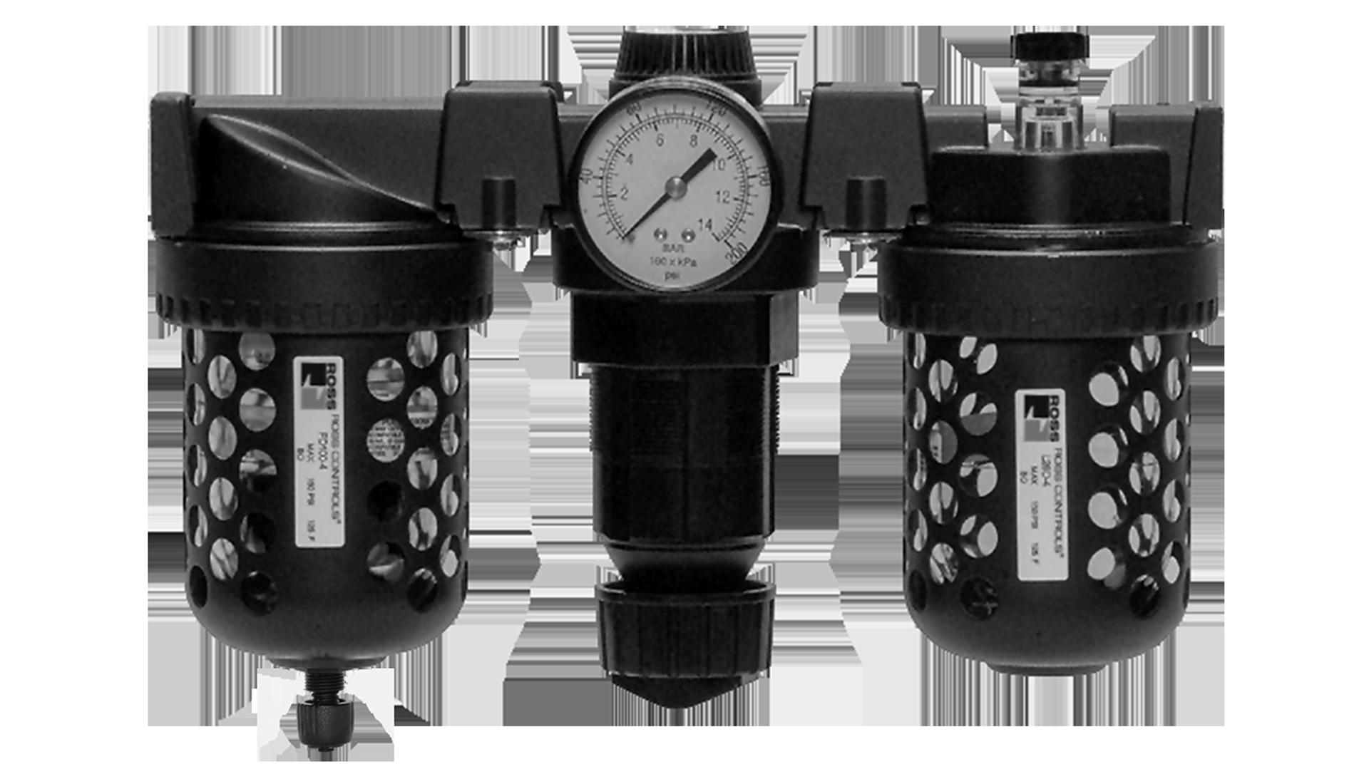 Combinations filter regulator lubricator modular full size